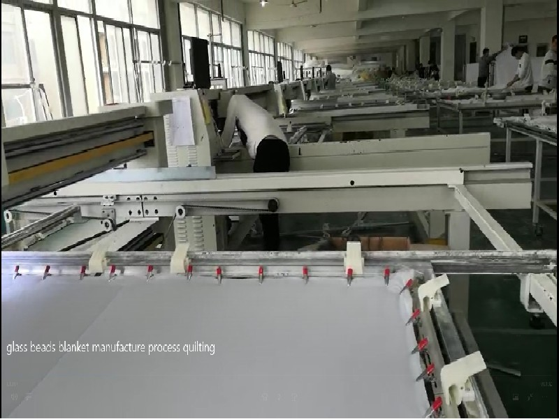 glass beads blanket manufacture process quilting