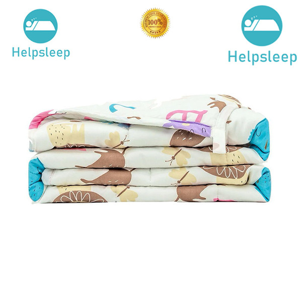 breathable organic cotton weighted blanket packing bed linings