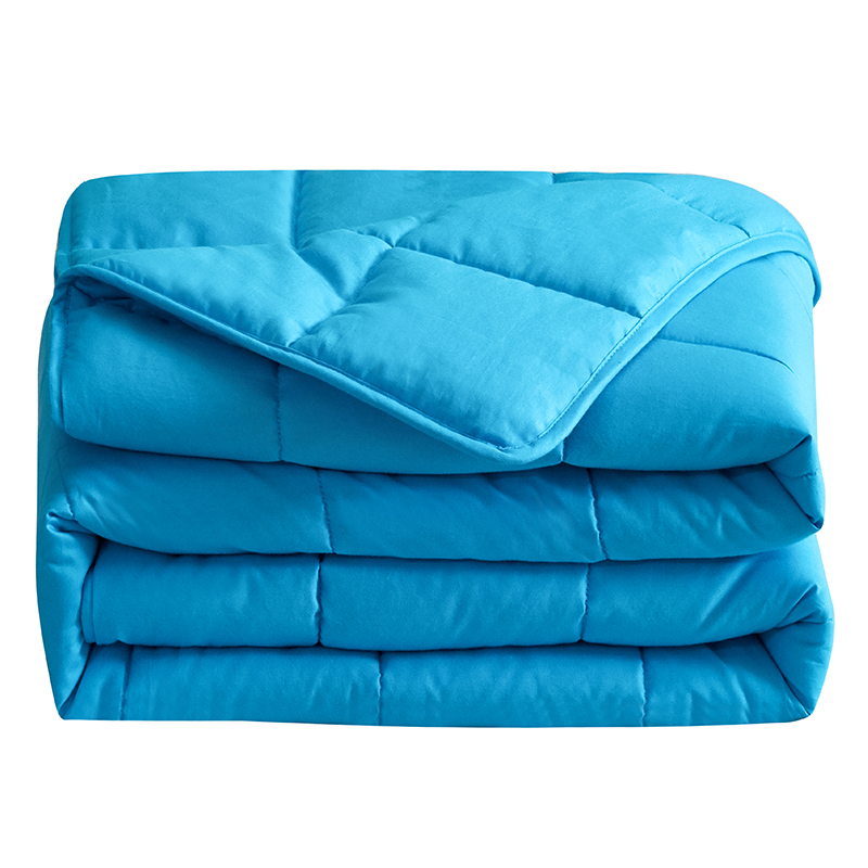 Solid color washable 5lb/10lb/15lb/20lb anxiety sensory heavy weighted blanket