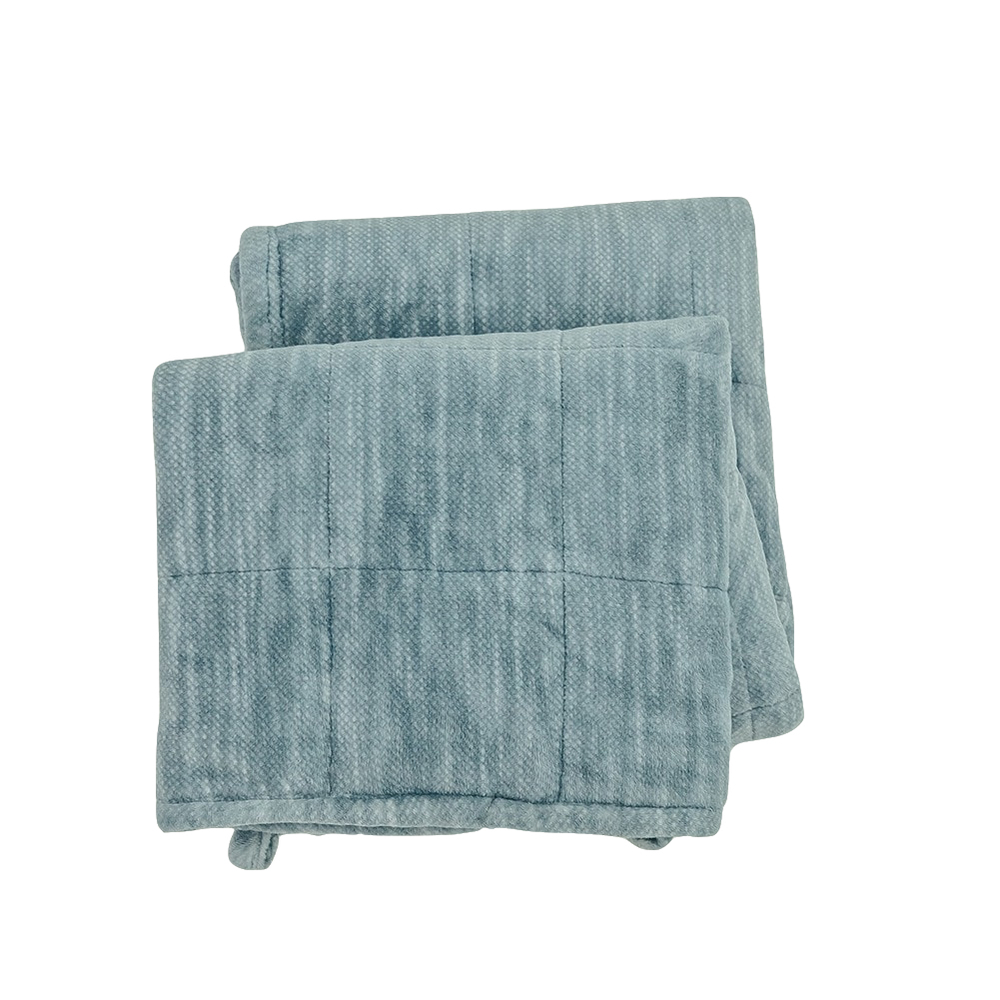Manufacture knitted Micro fiber weighted blanket 15lbs for anxiety