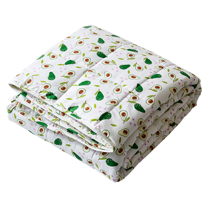 Wholesale cheap price 20lbs sensory inner adult cotton weighted blanket