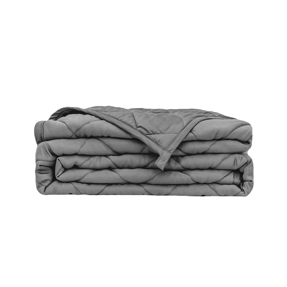 Grey Bamboo Weighted Blanket - Cool Sensory Blanket for Anxiety