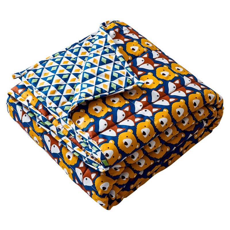 Home use cotton quilted cheap soft autism minky dot weighted blanket