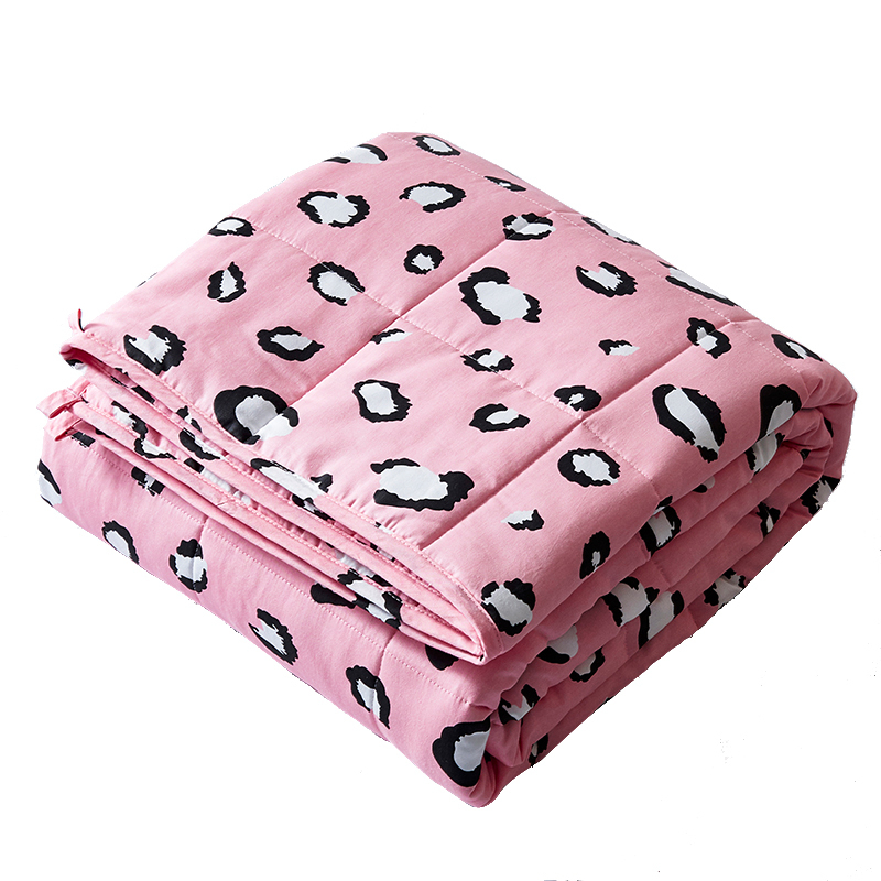 personalized anxiety cooling summer glass beads print cotton weighted blanket