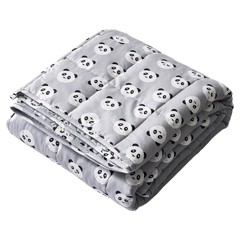 New design relieve anxiety cartoon 15 lbs print cotton adult gravity blanket