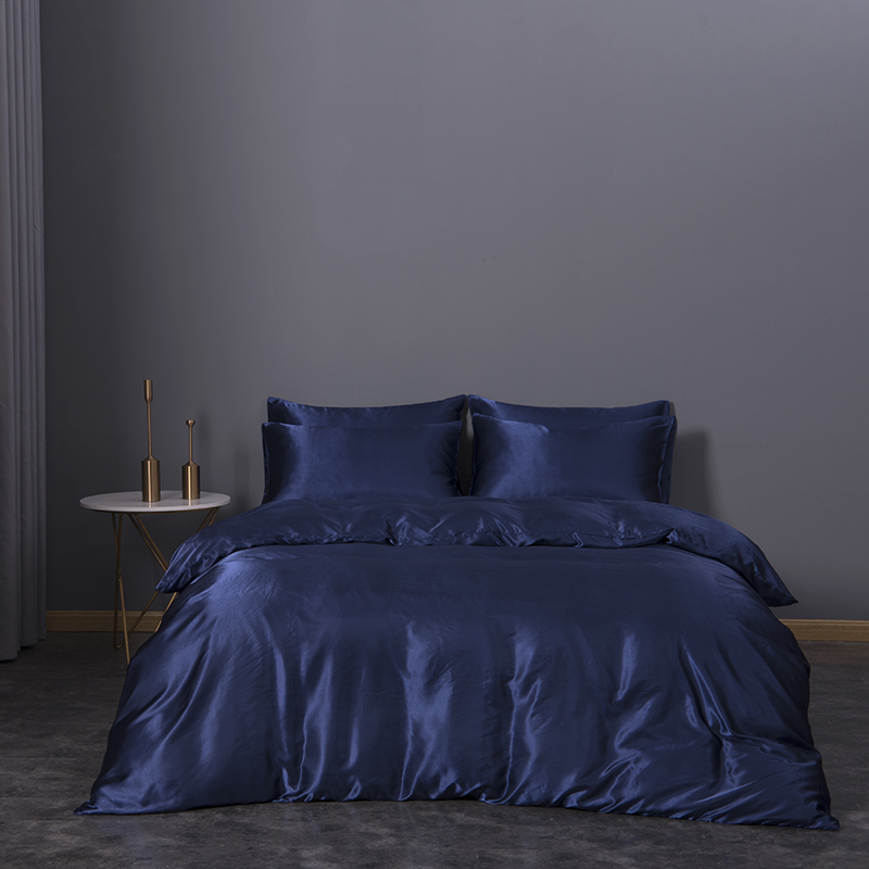 Satin Extra Soft Microfiber Duvet Set Artificial Silky Bed Sheets