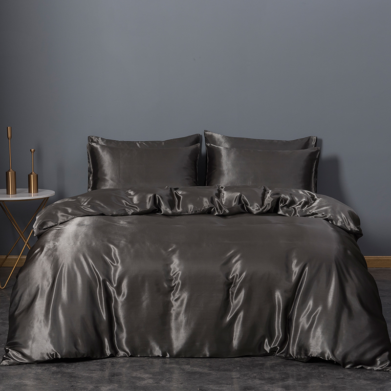 3-Pieces Satin Duvet Cover Set Smooth and Silky