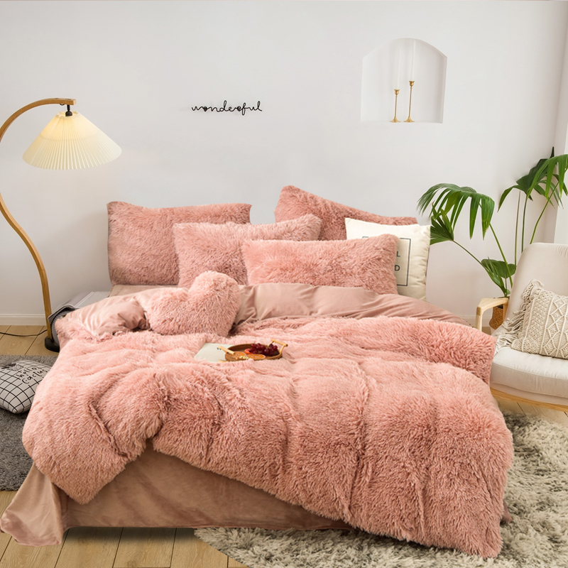 Crystal velvet duvet cover bedding sets