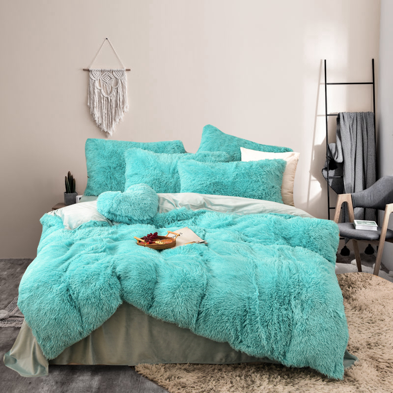 suppliers polyester microfiber printed 3 pieces Crystal velvet cotton bedding sets