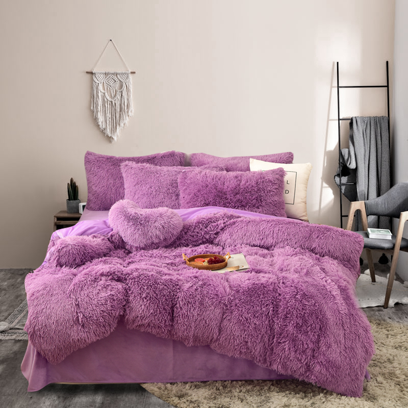 Watercolor Crystal velvet Comforter Cotton beautiful bedding sets