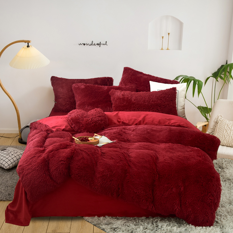 microfiber printed 3 pieces Crystal velvet bedding sets