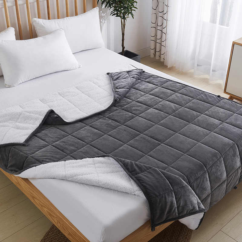 Wholesale Sensory Polyester Sherpa Weighted Blanket for Insomnia Amazon Supplier Factory
