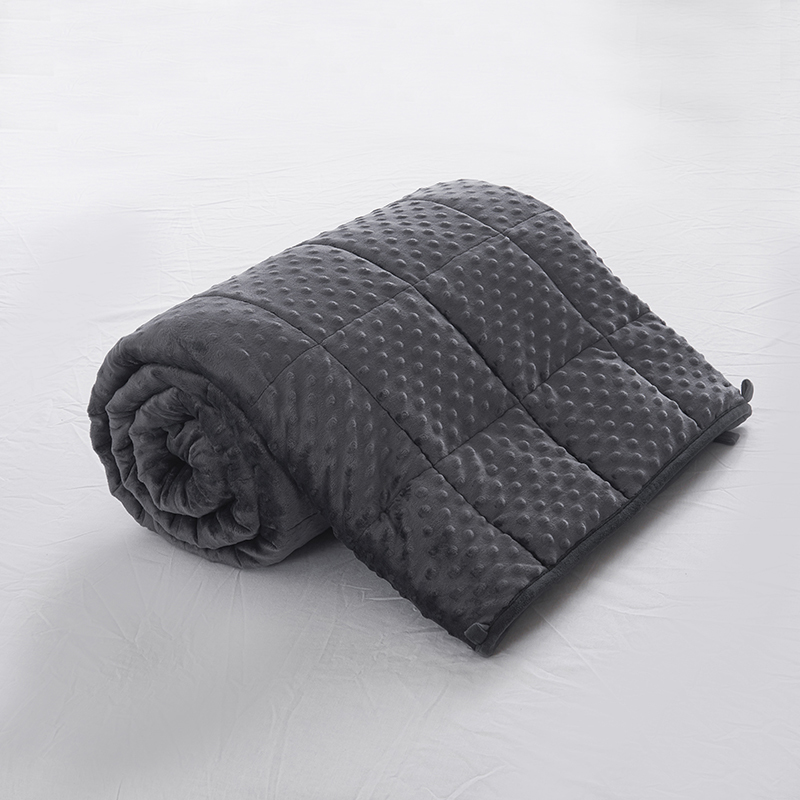 AB Surface Foam Wool Cashmere Weighted Blanket Factory Direct Sales