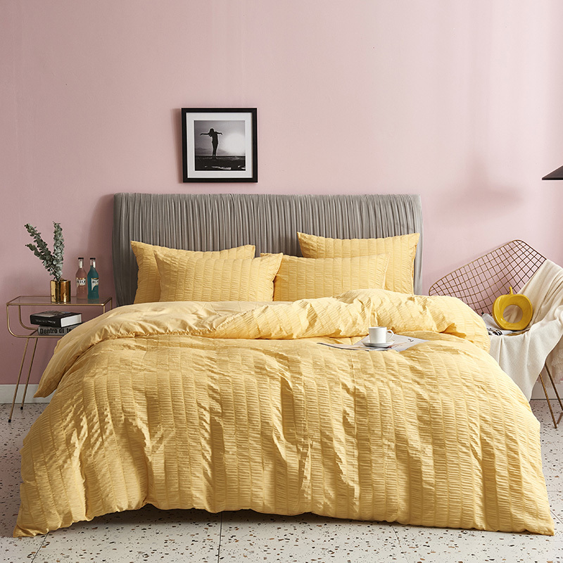 Seersucker Duvet Cover Set