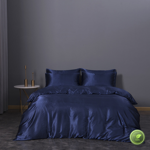 Rhino black silk sheets queen bed factory bed linings