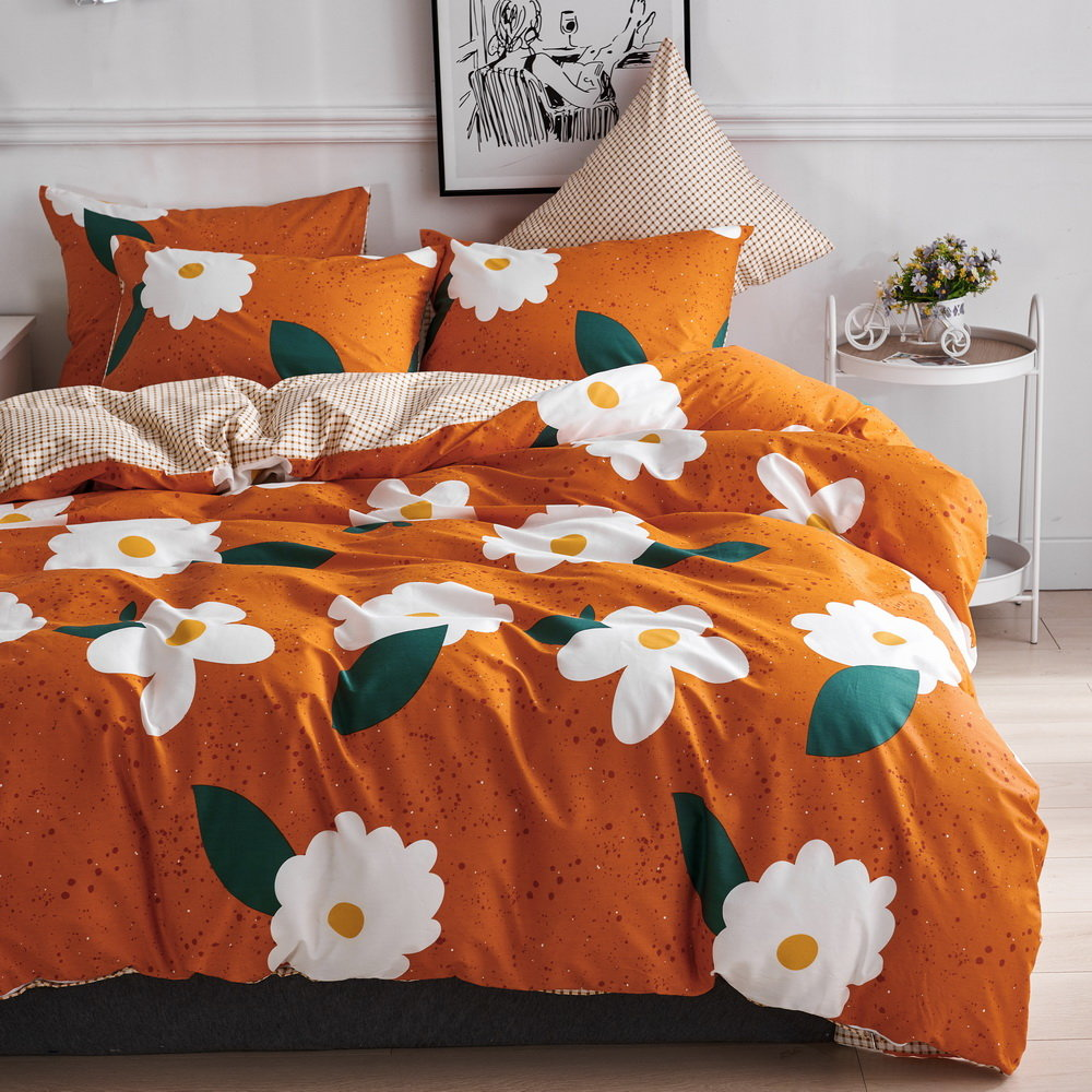 printed cotton duvet cover bedding set