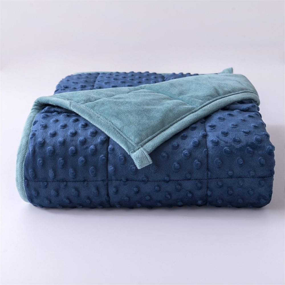 Dot Minky Weighted Blanket